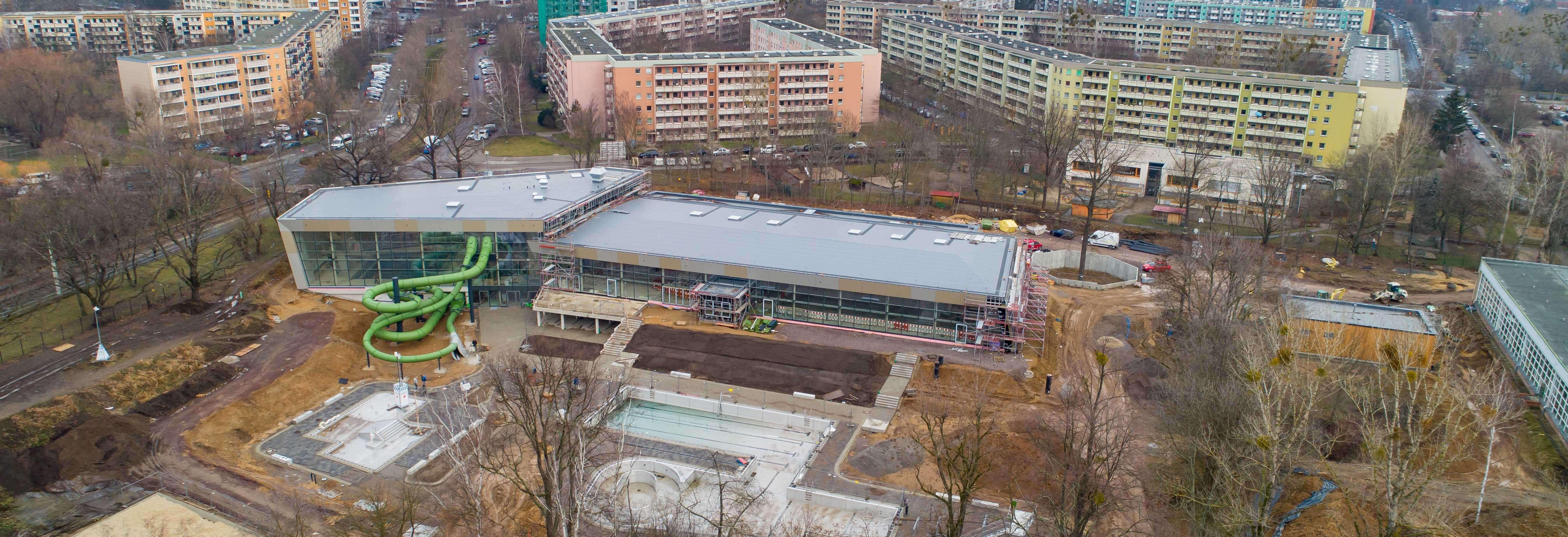 Baustand Februar 2021, Luftbild