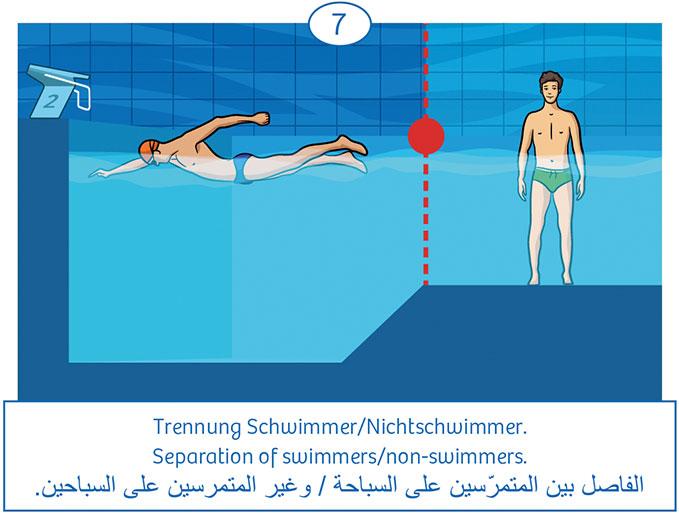 7: Trennung Schwimmer / Nichtschwimmer