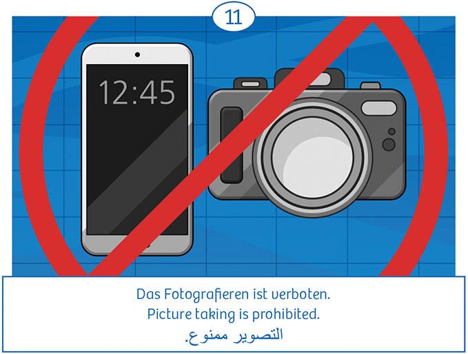 11: Das Fotografieren ist verboten
