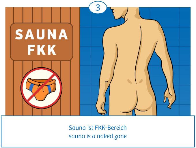 3: Sauna ist FKK-Bereich
