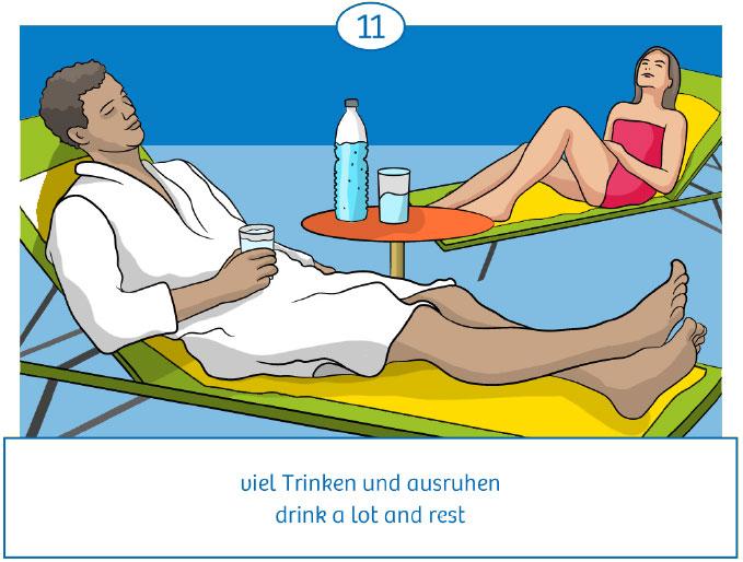11: viel trinken und ausruhen