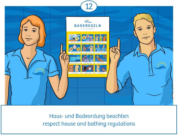 12: Haus- und Badeordnung beachten